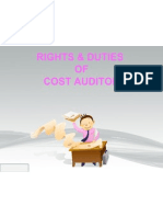 Rights & Duties of Auditor
