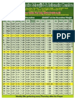 HJM July 2012 Prayer Timetable