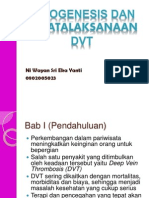 Patogenesis Dan Penatalaksanaan Pada DVT