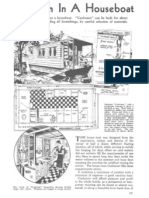 Coolwater - A Wooden Shanty Houseboat Plans From Years Ago