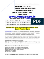NISM STUDY MATERIAL FOR MUTUAL FUND EXAM (EARLIER AMFI). MOCK TEST AT WWW.MODELEXAM.IN