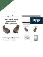 Manuals ACS5820