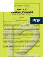 2001 Amc 12 Solutions
