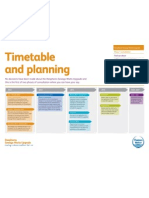Timetable and planning - leaflet