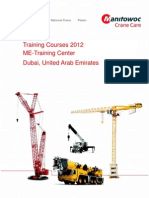2012 Middle East Training Schedule