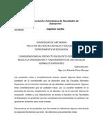 Consideraciones Al Proyecto de Decreto Ens Uni Cartagena.
