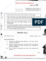 CBSE Class 12 English Core Exam Paper 2011 Set 1