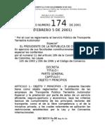 Decreto 174 de 2001