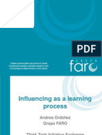 Influencing as a learning process