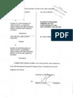 Miller v Board - Plaintiff's Proposed Findings