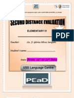 2nd Distance Evaluation - June Elementary Four