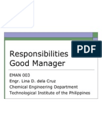 EMAN 003 Responsibilities of a Good Manager