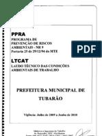 Prefeitura Municipal de Tubarão - LAUDO 2009-2010