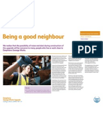 Being a good neighbour - exhibition board