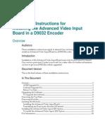 D9032 Encoder SDI Board Install