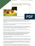 """""""Negocio o familia ¿Qué es lo más importante?"""" 2 de Septiembre de 2011-Mundo Ejecutivo News"""