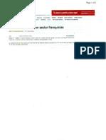"""""""Crecimiento menor en sector Franquicias"""" 15 de Septiembre de 2011-El Cuarto Poder"""