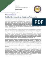 Ensayo- Servicio Al Cliente en Venezuela by Jose Borges