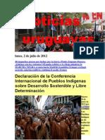 Noticias Uruguayas Lunes 2 de Julio Del 2012