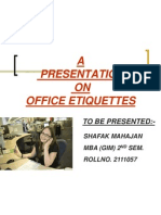Office Etiquettes