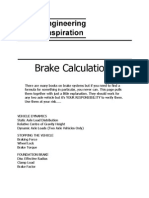 Brake Calculations