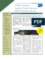HWU Management Degree Programmes 2012