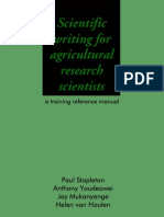 Scientific writing for agricultural research scientists