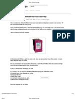 Refill HP 802 Cartridge