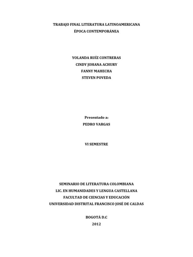Trabajo de Literatura Latinoamericana