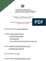(CERRADO) CRA - Conservação do cerrado do AP - SEMA 1998