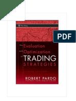 Evaluation Optmization Trading Strategies Robert Pardo