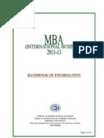 MBA Handbook 2011-13 (Delhi)