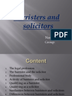 Barristers and Solicitors