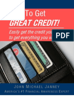 How to Get Great Credit
