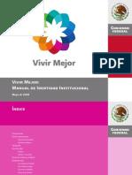 Vivir Mejor Manual de Identidad Gobierno Federal de Mexico