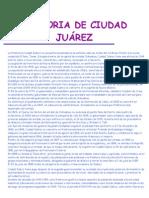 HISTORIA DE CIUDAD JUÁREZ