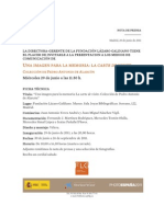 Nota de Prensa Exposicion Temporal La Carte de Visite