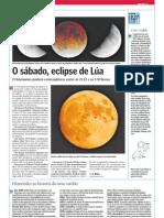 O sábado, eclipse de Lúa