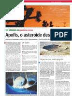 Apofis, o asteroide destrutor
