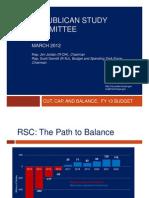 RSC FY 2013 Cut Cap and Balance Powerpoint Summary