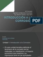 1 Introducción a la Corrosión