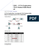 CCNA 4 Skill Based Assessment 2011