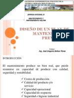 DISEÑO DE UN PLAN DE MANTENIMIENTO PREVENTIVO