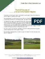 Costa de La Luz Golf Courses