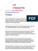 A Glance at the Aunt Tamara File by Adrian Nastase, political inmate