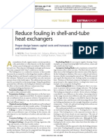 Reduce Fouling in Shell & Tube HE
