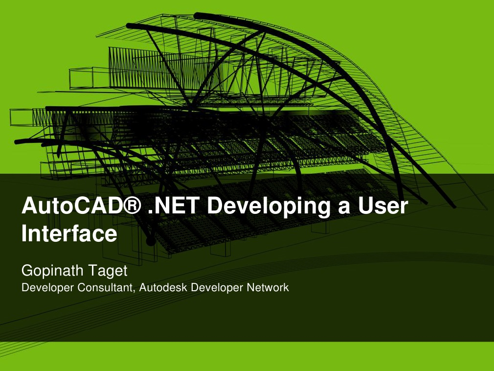 AutoCAD«  NET Developing a User Interface | Auto Cad | Application