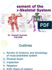 Assessment of the Musclo-Skletal System