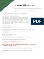 How to Setup PXE Server