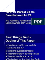 The End of Illegal Foreclosures in Pennsylvania